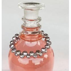 Ergane Perlenarmand mit Magnetverschluss, graue Süsswasserperlen und Silber