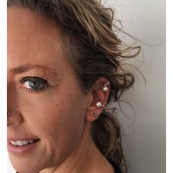 ATHENE Perlen-Ear-Cuffs
