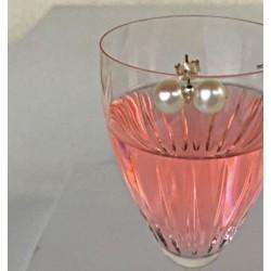 Dione 7mm Doppel-Perlenohrstecker aus Süsswasserperlen und Silber