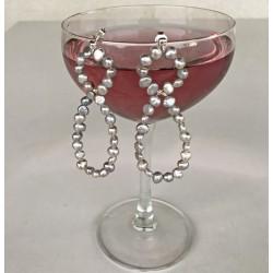 Deianeira Perlenohrringe aus Süsswasserperlen und Silber