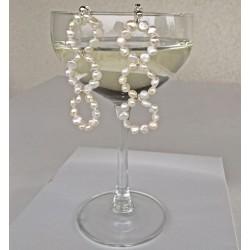 Briseis Perlenohrringe aus Süsswasserperlen und Silber
