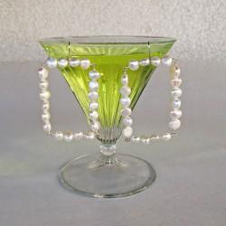 Lamia Perlenohrringe aus Süsswasserperlen und Silber