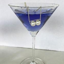 Dione 9mm Silberkette mit Süsswasserperlen
