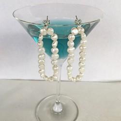 Idyia Perlenohrringe weiss aus Süsswasserperlen und Silber