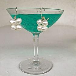 Proto Perlenohrringe weiss aus Süsswasserperlen und Silber