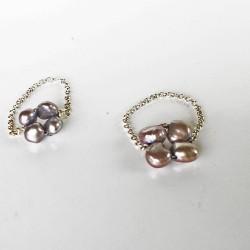 Proto Fingerkettchen Vergleich 6-7mm Perlen mit kleineren 5-6mm Perlen