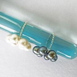 Halia Fingerkettchen aus ca. 9mm Perlen grau-blau und weiss
