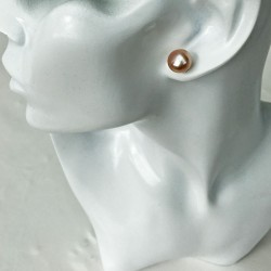 Thetis 10mm Perlenohrstecker rosa