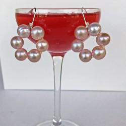 Halia Perlenohrringe rosa aus Süsswasserperlen und Silber