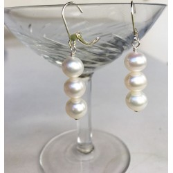 ALEA Perlenohrringe 3 Perlen