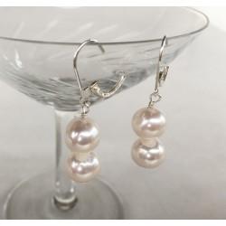 SELENE Perlenohrringe 2 Perlen