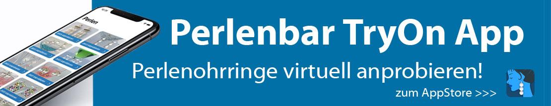 Virtuell Perlenohrringe anprobieren mit der App PERLENBAR TyOn (iOS)